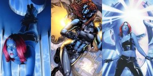 Mystique, as portrayed in the comics